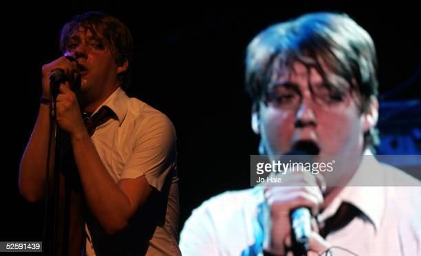 The Kaiser Chiefs perform on stage as support for Franz Ferdinand at the second in a series of 5 charity gigs in aid of the Teenage Cancer Trust...