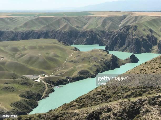 the kalajun lake of the kalajun international outdoor park - tien shan mountains stock pictures, royalty-free photos & images