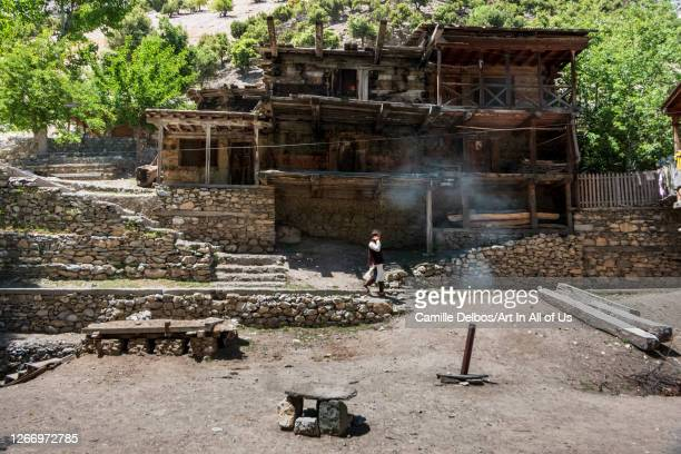 The Kalash houses are hooked to the sides of the valley and are composed of several flat roofs. Women have no right to access it, in which case an...