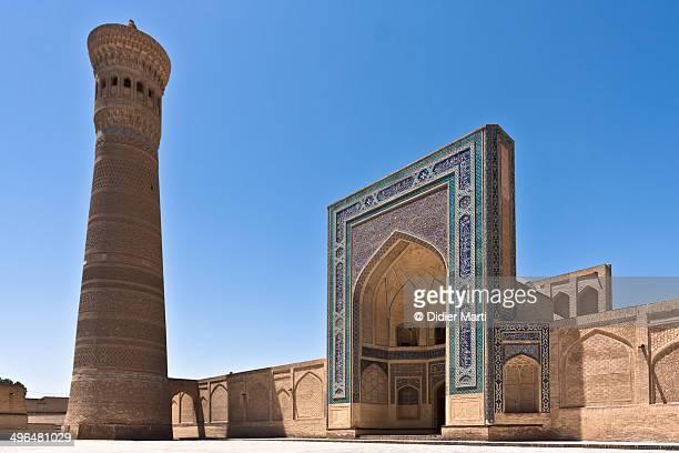 the kalyan minaret - didier marti stock-fotos und bilder