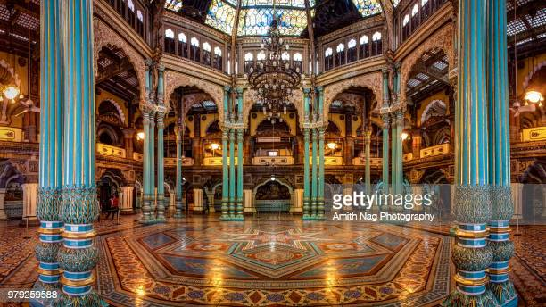 "the ""kalyana mantapa"" hall inside the royal mysore palace, mysore - maharaja stock pictures, royalty-free photos & images"