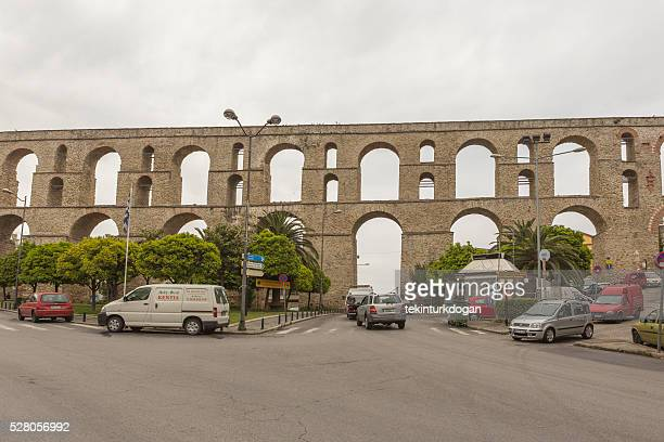 The Kamares aqueduct in Kavala Greece