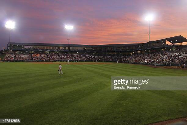 The Kane County Cougars host the Clinton LumberKings in Geneva, Il., in August 2014. The teams, the Class-A affiliates of the Chicago Cubs and...
