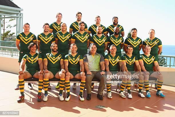 The Kangaroos team pose during the Australia Kangaroos Test team photo session at Crowne Plaza Coogee on May 2 2016 in Sydney Australia