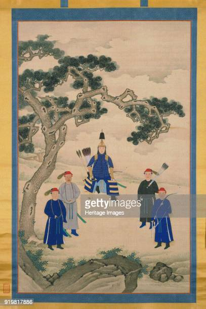 The Kangxi Emperor in Martial Attire Hanging scroll Second Half of the 17th cen Found in the collection of Palace Museum Beijing