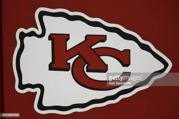 The Kansas City Chiefs logo in the first half of an NFL preseason game between the Tennessee Titans and the Kansas City Chiefs on August 31 2017 at...