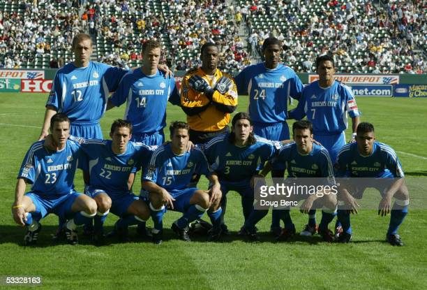 The Kansas City Wizards pose for portrait before the MLS Cup against the DC United on November 14 2004 at the Home Depot Center in Carson California...