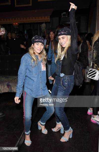 The Kaplan Twins attend Bella Hadid x True Religion Event Campaign Party at Poppy on October 18 2018 in Los Angeles California