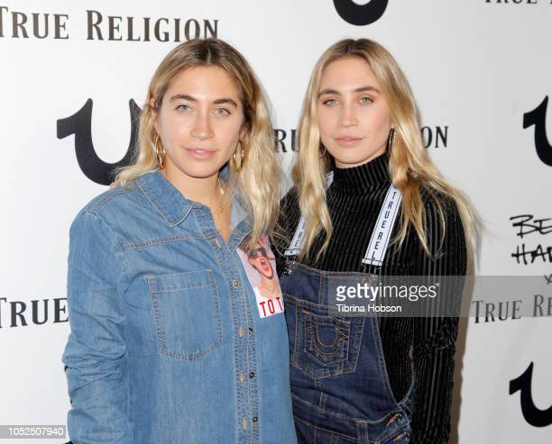 The Kaplan Twins attends the Bella Hadid x True Religion Event at Poppy on October 18 2018 in Los Angeles California