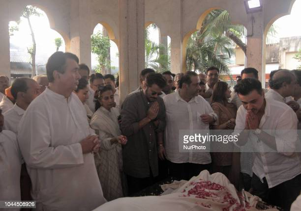 The Kapoor family and members of film fraternity paying last tributes to the late Krishna Raj Kapoor who passed away of cardiac arrest in Mumbai on...