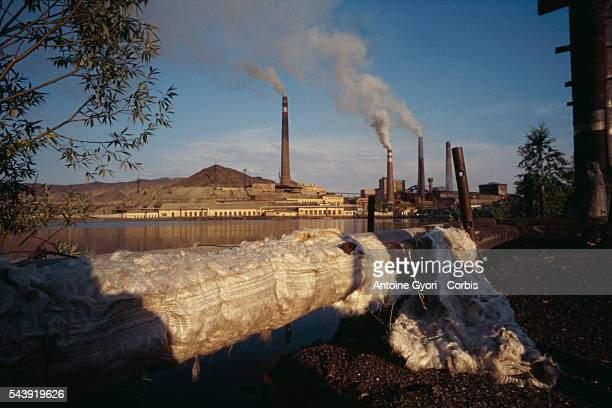 The Karabachmed plant a copper foundry that gives off fumes full of sulfur