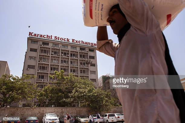 The Karachi Stock Exchange building stands in Karachi Pakistan on Thursday May 28 2015 Pakistan's budget is scheduled to be presented on June 5...