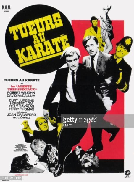 The Karate Killers poster French poster art top right Diane McBain center lr David McCallum Robert Vaughn from bottom Herbert Lom Joan Crawford 1967