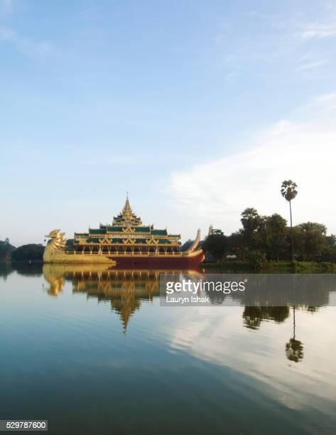 The Karaweik Palace, Yangon, Myanmar