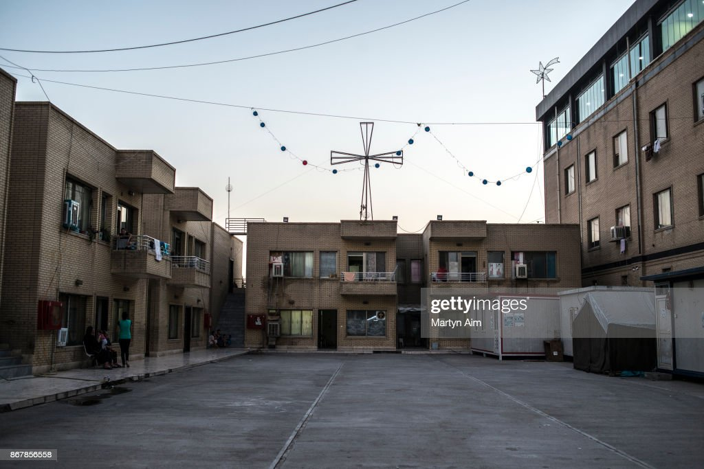 The Karemles Complex in Erbil, northern Iraq, on September 8, 2017. The apartments have been home for many Catholic residents for three years since Islamic State militants took their Christian town of Karemles in northern Iraq. They are soon to return to their homes in the town.