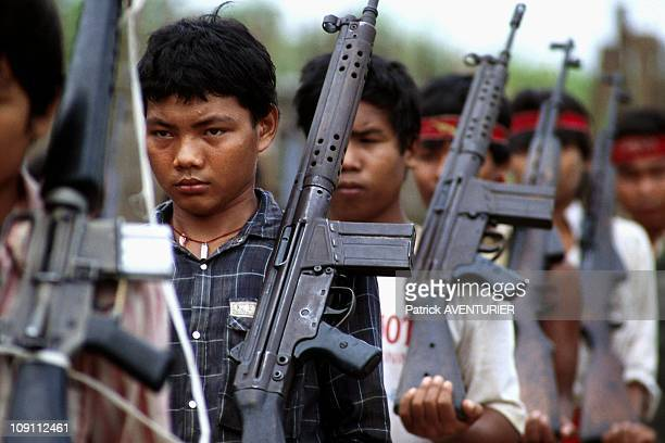 The Karen Guerilla Growing Out Of Childhood With A Gun In Hand On January 12Th Myanmar.