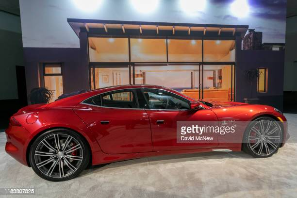 The Karma Revero GT is shown at AutoMobility LA on November 21, 2019 in Los Angeles, California. The four-day press and trade event precedes the Los...