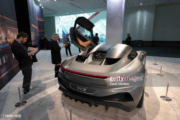 The Karma SC2 is shown at AutoMobility LA on November 21, 2019 in Los Angeles, California. The four-day press and trade event precedes the Los...