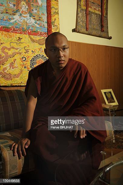 The Karmapa in India Portrait of His Holiness the 17th Karmapa in his wellguarded residence in Dharamsala India He is considered as an emanation of...