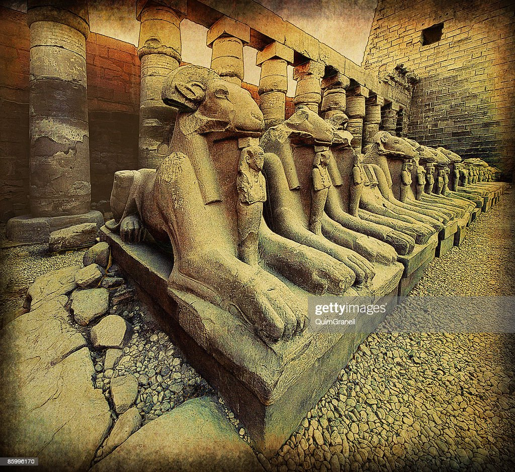 The Karnak Temple : Stock Photo