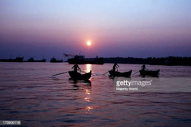 The Karnaphuli harbor at Chittagong Bangladesh April 25 2008