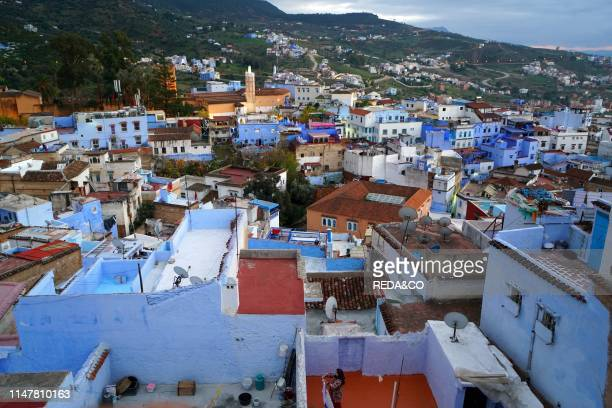 The Kasbah. Chefchaouen. The blue pearl. Village northeast of Morocco. North Africa. Africa.