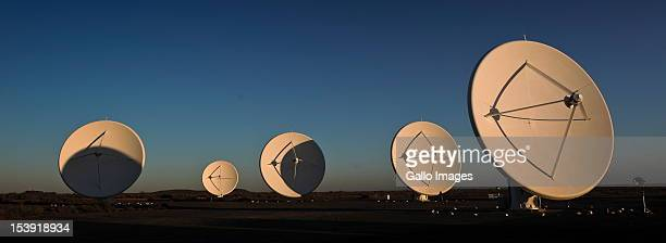 The KAT7 telescope stands in the sun at the SKA project site on October 9 2012 in Carnavon South Africa President Zuma called the project an...