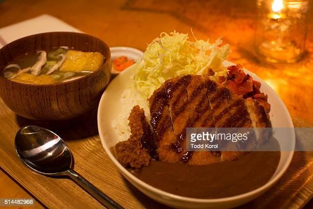 The katsu curry dish at Imanishi Japanese Kitchen on Dundas St West in Toronto, Ontario.