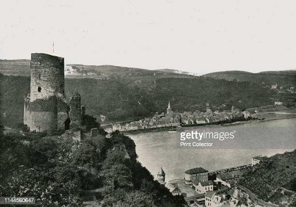 The Katz overlooking the Rhine St Goarshausen Germany 1895 Katz Castle was built circa 1371 by Count William II of Katzenelnbogen The castle above...