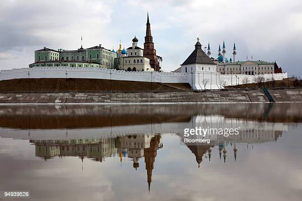 The Kazan Kremlin sits in the city of Kazan in the Republic of Tatarstan Russia on Wednesday April 8 2009 Russian industrial production shrank more...