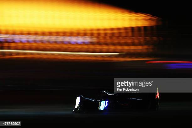 The KCMG Oreca Nissan of Matthew Howson Richard Bradley and Nicolas Lapierre drives during qualifying for the Le Mans 24 Hour race at the Circuit de...
