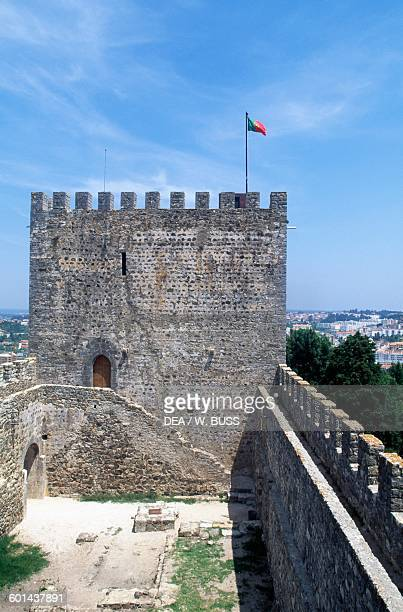 The keep and the walls of Leiria Castle Centro Portugal 12th14th century