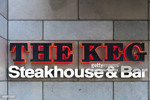 The Keg sign entrance The Keg is a Canadian chain of steakhouse restaurants and bars known for their delicious seasoned steaks