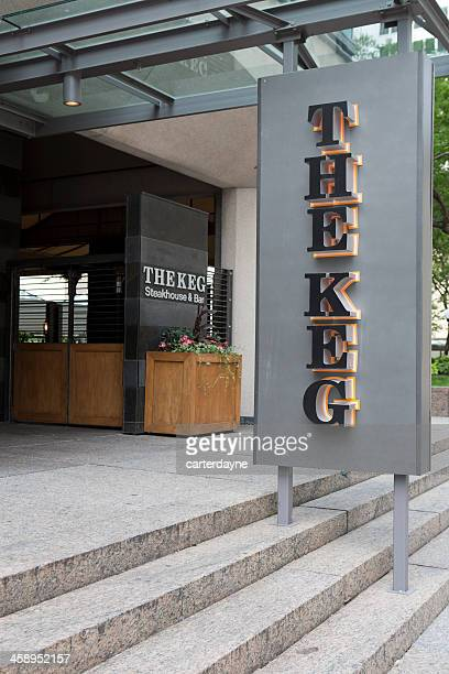 the keg steakhouse and bar downtown montreal, canada - steakhouse stock photos and pictures