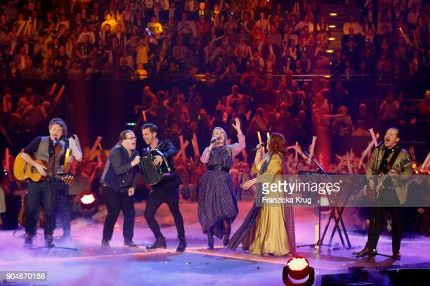 The Kelly Family and Florian Silbereisen during the 'Schlagerchampions Das grosse Fest der Besten' TV Show at Velodrom on January 13 2018 in Berlin...