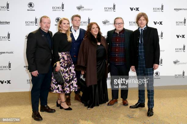 The Kelly Family arrives for the Echo Award at Messe Berlin on April 12 2018 in Berlin Germany