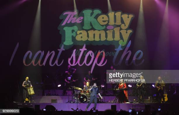 The Kelly Family band performs on stage during a concert on March 9 2018 in Vienna / AFP PHOTO / APA / HERBERT PFARRHOFER / Austria OUT