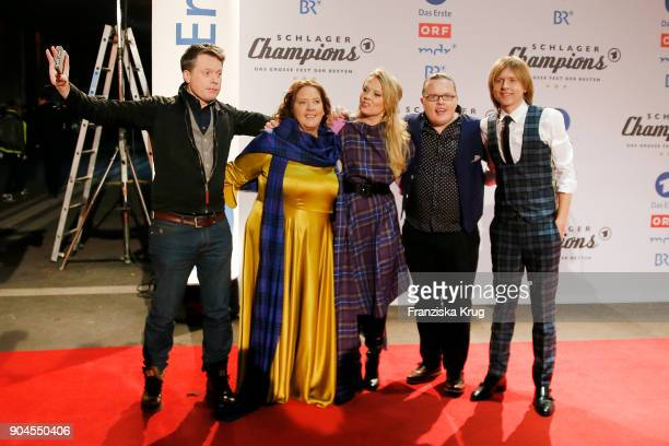 The Kelly Family during the 'Schlagerchampions Das grosse Fest der Besten' TV Show at Velodrom on January 13 2018 in Berlin Germany