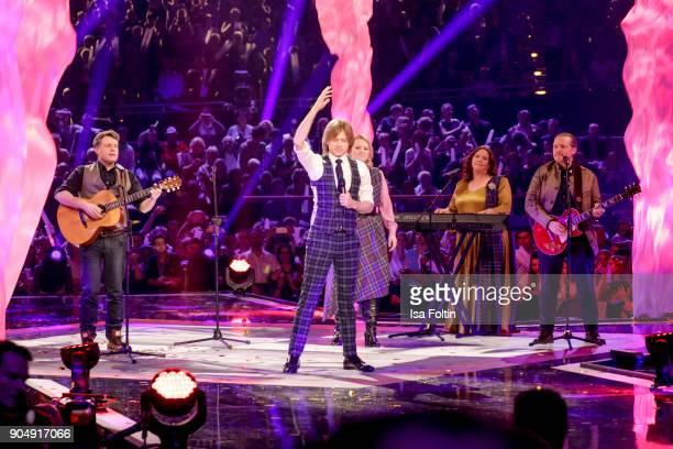 The Kelly family perform at the 'Schlagerchampions Das grosse Fest der Besten' TV Show at Velodrom on January 13 2018 in Berlin Germany