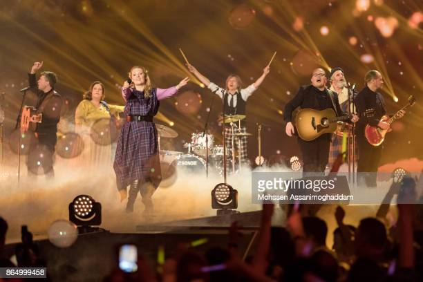 The Kelly Family perform during the show 'Das Internationale Schlagerfest' at Westfalenhalle on October 21 2017 in Dortmund Germany