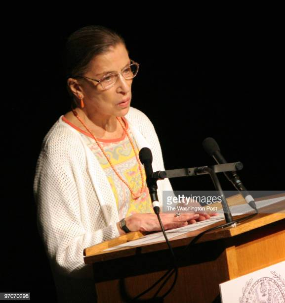 9/18/2006 The Kennedy Center Washington DC Supreme Court Justice Ruth Bader Ginsburg during the reading of the Constitution at Georgetown...
