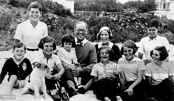 The Kennedy clan in 1931 in Hyannisport MA