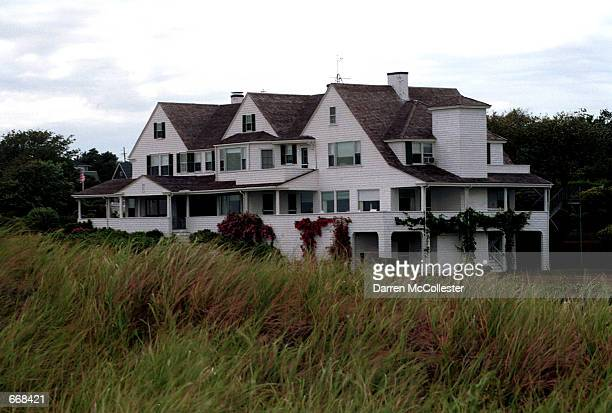 The Kennedy compound is seen July 15 in Hyannisport MA It was normal activity on the eve of the death of John F Kennedy Jr who died one year ago July...