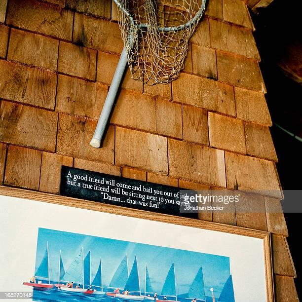 The Kennedy compound's beachy objets d'art are photographed for Town & Country Magazine on September 22-23, 2012 in Hyannis Port, Massachusetts....