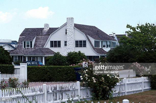The Kennedy family compound is seen July 6 2000 in Hyannis MA July 16 2000 marks the oneyear anniversary of the plane crash off the coast of Martha's...