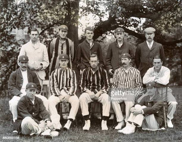 The Kent County cricket team circa 1901 Left to right back row Sammy Day Ted Dillon Colin Blythe Joe Murrell and Walter Hearne middle row Fred Huish...