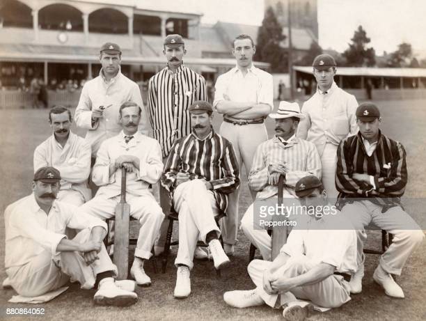 The Kent County cricket team prior to their match against Somerset in Canterbury on 20th August 1896 Left to right back row Eustace Shine Haldane...