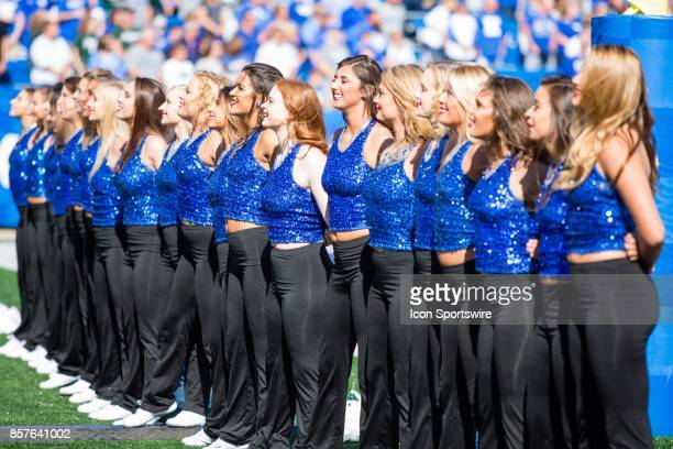 The Kentucky Dance Team performing during a regular season college football game between the Eastern Michigan Eagles and the Kentucky Wildcats on...