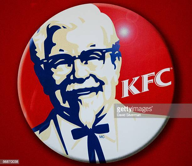 The Kentucky Fried Chicken logo is seen inside the international chain's local franchise February 17 2006 in Tel Aviv Israel Officials are trying to...