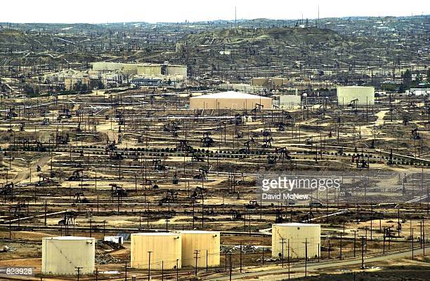 The Kern River Oil Field is blanketed with pumps February 16 near Oildale CA In recent months the state Coastal Commission has been battling the...
